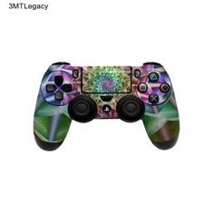 Controller PS4 Skin Dualshock 4 Sticker Decal Wrap Green Blue Pink Playstation