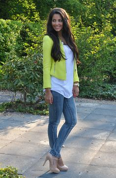 Zara Blazer, Monki Top, Vero Moda Jeans, Zara Shoes ---casual chic