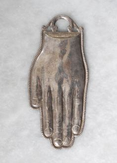 "Fantastic 19th cent. figural votive offering ""hand""  #Abstract"