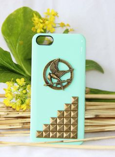 the bird with arrow protective phone case for iphone 4 4s 5 summer trending punk style rivet protective phone case friendship love gifts on Etsy, $12.99