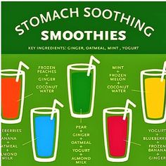 Stomach Soothing Smoothie Recipes [Infographic]