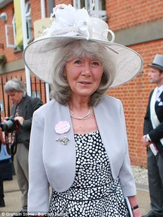 Classic: Veteran author, Jilly Cooper looked elegant in grey while singer Pixie…
