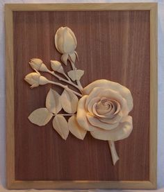 fine woodcarving a real rose. - Reader's Gallery - Fine Woodworking