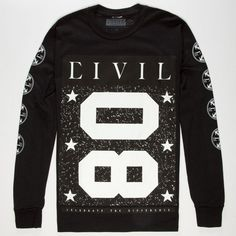 CIVIL Team Civil Mens T-Shirt 245982100 | L/S & Baseball Tees