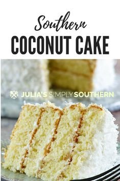 How to bake a delicious coconut cake from scratch? This amazing Southern coconut. - How to bake a delicious coconut cake from scratch? This amazing Southern coconut cake is perfect fo - Coconut Cake From Scratch, Southern Coconut Cake Recipe, Holiday Desserts, Easy Desserts, Holiday Recipes, Southern Recipes, Southern Desserts, Southern Food, Southern Prep
