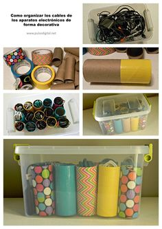 Cómo organizar los cables de los aparatos electrónicos de forma decorativa
