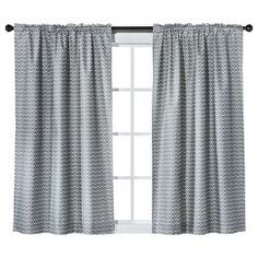 "Room Essentials® Print 2pk Curtain Panel - Gray (42x63"")"