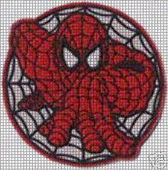Crochet Pattern for Spiderman Afghan | crochet graph patterns cartoons spiderman…
