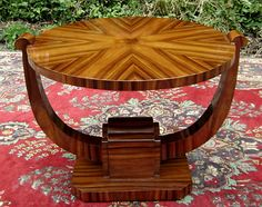 Art Deco Style French Rosewood Coffee Table