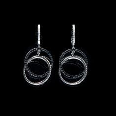 Black and White Diamond Earrings at Donald Haack Diamonds