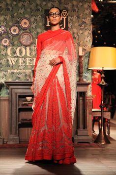 Sabyasachi Delhi Couture Week 2012 #sabyasachi #delhicoutureweek2012 #saree #embellished #embroidery