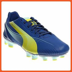 PUMA Women's Evospeed 3.2 FG Soccer Shoe,Monaco Blue/Sulfur Spring/Sunny Lime,7.5 B US - Athletic shoes for women (*Amazon Partner-Link)