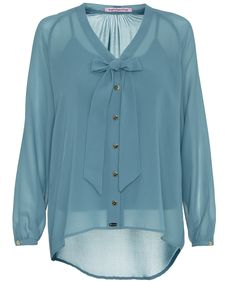 Blouse by Fornarina #fornarina #blouse #blue #pastell #engelhorn  http://fashion.engelhorn.de/