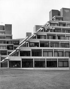 university of east anglia denys lasdun University Of East Anglia, Space Place, Brutalist, Contemporary Architecture, Urban Design, Concrete, Multi Story Building, Public, Stairs