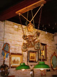 hay trolley lighting made by Legendary Antiques