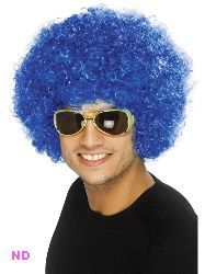 70s Funky Curly Afro Wig, Blue