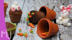 """Cupcakes de chocolate """"Conejitos de Pascua"""" / Chocolate Cupcakes """"Easter Rabbits"""""""