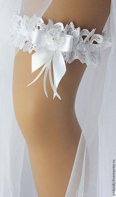 """Купить Подвязка для невесты """"Белоснежка"""" - подвязка, подвязка для чулок…"""