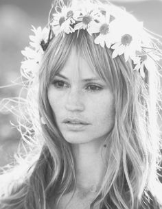 Daisy Chain. We should wear these on our head at the wedding