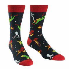 Absolute Socks - Men's Underwater Explorer Socks, $11.50 (http://www.absolutesocks.com/featured/new-arrivals/mens-underwater-explorer-socks/)
