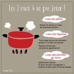 Anti-waste tips;) We recycle cooking water . - Anti-waste tips;] We recycle cooking water … - Take Care Of Your Body, Home Management, Bts Love Yourself, Teaching Activities, Green Life, Simple House, Zero Waste, Better Life, Ecology