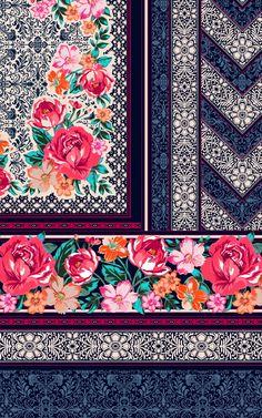 Abstract Pattern, Pattern Art, Print Patterns, Jungle Pattern, Pattern Designs, Textile Prints, Textile Design, Textiles, Botanical Prints