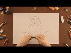 Cómo dibujar un Búho : Dibujos de la Naturaleza