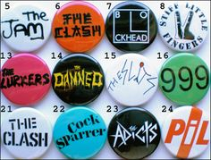 70's Punk New Wave Band Collection - 56 Badges inc The Damned, The Clash etc   eBay