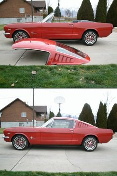 Mustang fiberglass fastback roof for convertible Shut up and take my MONEY!!!