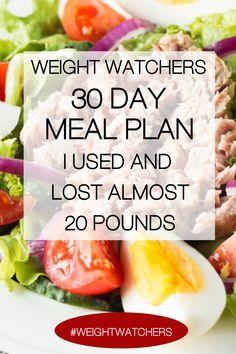 Weight Watchers Meal Plans, Weight Watcher Dinners, Weight Watchers Diet, Weight Loss Meals, Losing Weight Meal Plan, Diet Meal Plans To Lose Weight, Healthy Food To Lose Weight, Healthy Foods To Eat, Healthy Recipes
