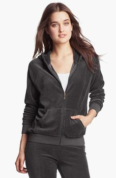 Juicy Couture Velour Zip Hoodie (Online Only) available at #Nordstrom