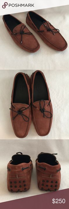 Tod's Gommini Driving Shoe Tod's Gommini driving shoe. Cord laces. Size U.K. 9.5. Excellent condition. Tod's Shoes Loafers & Slip-Ons