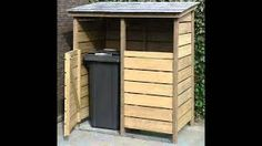bouwtekening kliko ombouw - Google Zoeken Firewood Storage, Storage Bins, Tall Cabinet Storage, Storage Ideas, Backyard Landscaping, Shed, Outdoor Structures, Patio, Outdoor Decor