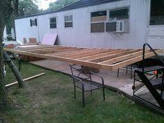 Deck framing going together...