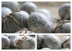 newspaper mache eggs