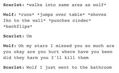 Oh, Wolf! You're just too cute!! <3 <3 <3