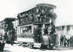 Trams, used between Cape Town & Greenpoint, at the turn of the last Century Light Rail, Most Beautiful Cities, Reference Images, Back In Time, Cape Town, Old Photos, South Africa, Past, Landscapes