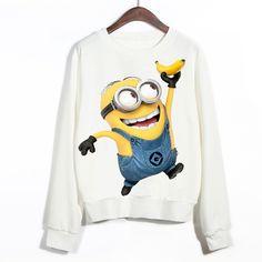 ... engraçado Minions de Banana impresso 3D camisolas Pullovers em Hoodies    Camisolas de Das mulheres Roupas   Acessórios no AliExpress.com  982dbcd8f5e