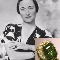 Wallis and her emerald engagement ring