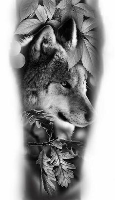 New tattoo designs wolf forest Ideas Music Tattoos, New Tattoos, Body Art Tattoos, Sleeve Tattoos, Wolf Tattoos Men, Badass Tattoos, Tattoo Wolf, Wolf Tattoo Design, Wolf Design