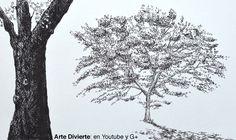 Cómo dibujar un árbol con marcadores - Cómo dibujar árboles - Roble
