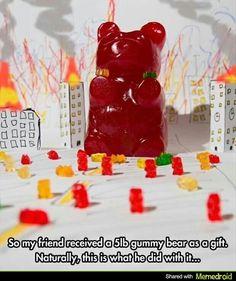 More 5 lbs gummy bear :t