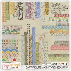I am a huge fan of washi tape (in digital and traditional scrapbooking).  @Tracie Stroud has created this huge mega pack which is simply faaaaaabulous!!!!!!!!!!!!