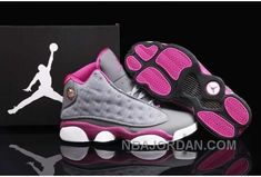 606fc65e00 Now Buy Nike Air Jordan 13 Womens Grey Fusion Pink Shoes New Save Up From  Outlet Store at Footlocker.