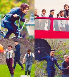 One Direction filming the One Thing video:)
