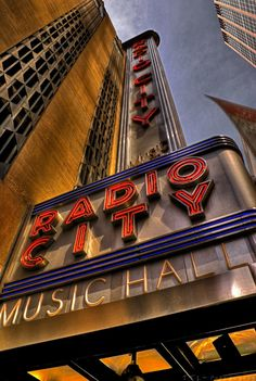 Radio City Music Hall, art deco theater .My grandmother would take me for  good report card; we would see the movie and show over and over again!