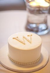 Cake topper with last name initial