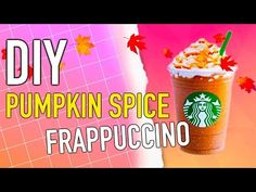 Learn how to make your own DIY Starbucks Frappuccino! Pumpkin spice flavor makes…