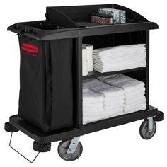 /Noir Rubbermaid Commercial Medium Flat /étag/ère lourd chariot utilitaire/