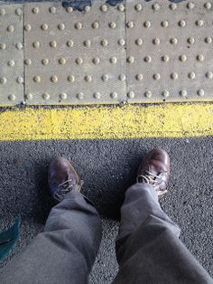 #walktowork week feet waiting for the train